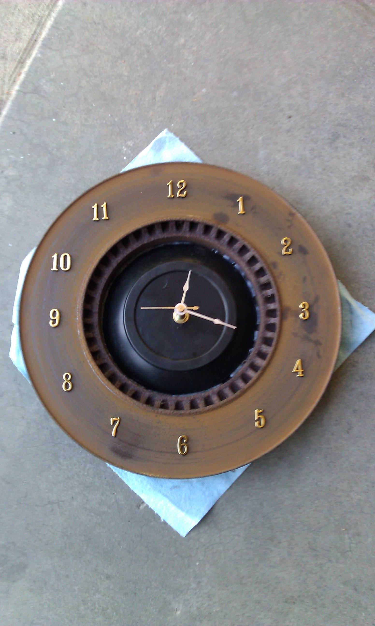Fun Projects Helmet Planter Amp Brake Rotor Clock